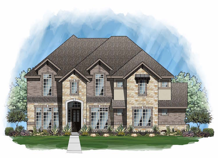 Plan 4163 - Elevation D