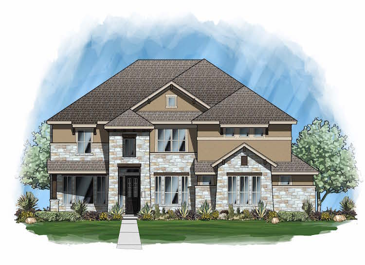 Plan 4163 - Elevation E